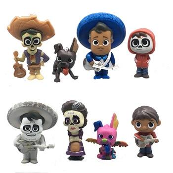 8pcs/set 5-9Cm Figure Coco Pixar Miguel Riveras Collectors Miguel/Ernesto De La Cruz Hector Action Figure Toys Kid Birthday Gift