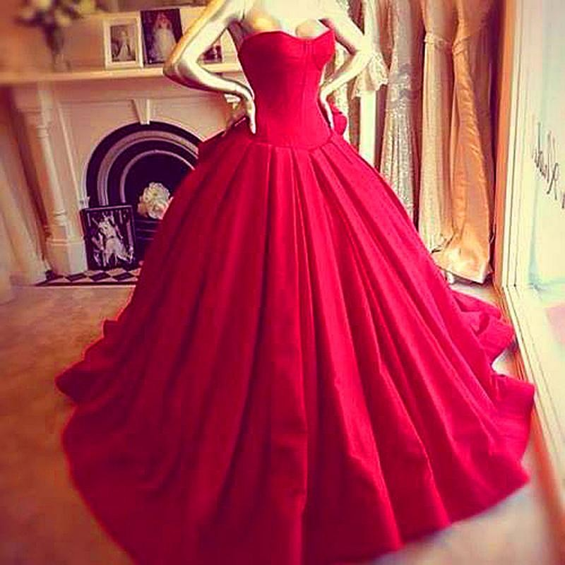 2018 Elegant Victoria Royal Style Corset Evening Dresses Sexy Sweetheart Vestido De Renda Red Ball Gown Prom Gowns Free Shipping
