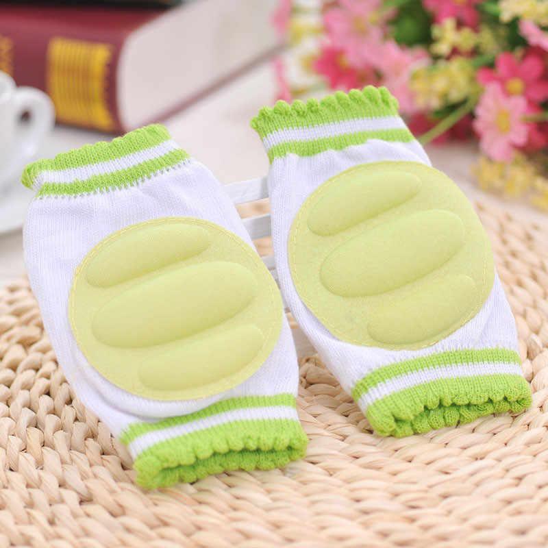 1 par bebé Kneepad acogedor de algodón transpirable esponja niños rodilla almohadillas a aprender a caminar mejor protección arrastrándose Leggings Pad