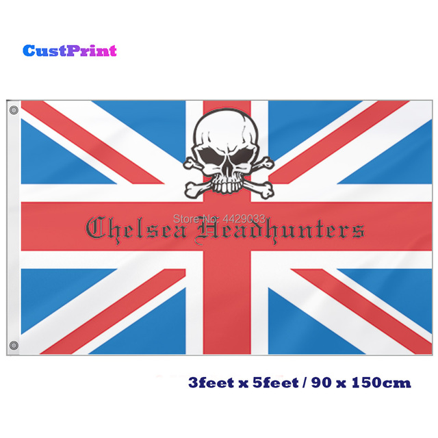 0564bf5b1 CustPrint 3x5 Feet Chelsea Headhunters UK British Flag Banner-in ...