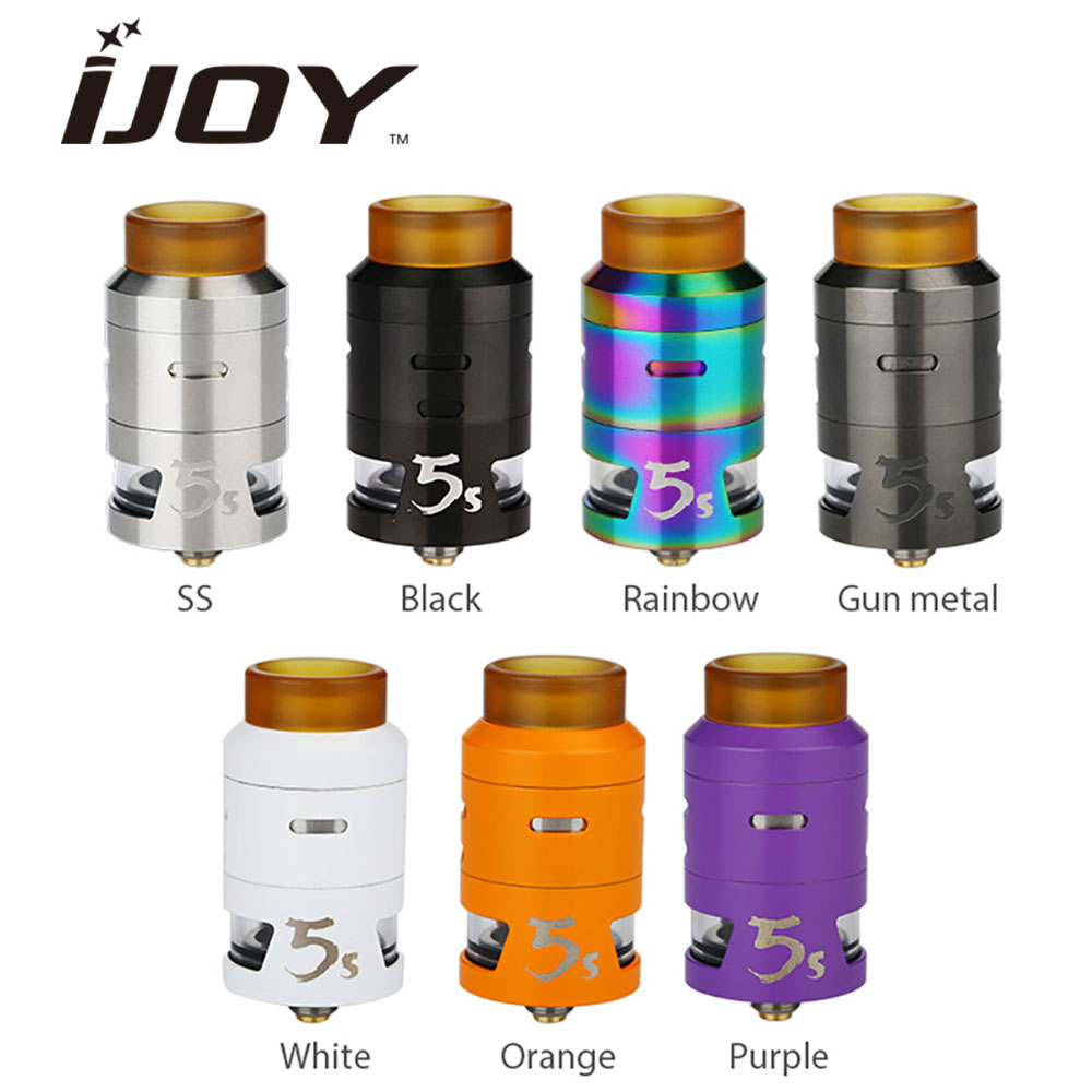 все цены на Original IJOY RDTA 5S Tank Atomizer 2.6ml Rebuildable Atomizer RDTA 5 S for Alien / G-priv Mod vs Ammit RTA Tank Atomizer Vape
