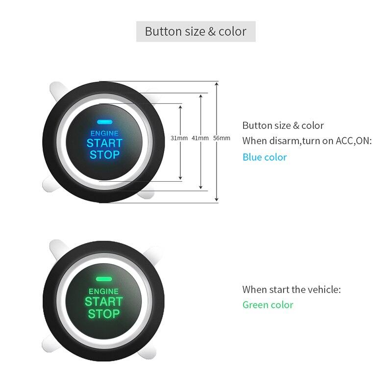 EASYGUARD pke système d'alarme de voiture démarrage bouton d'arrêt système d'entrée sans clé démarreur à distance voiture verrouillage central alarme automatique mot de passe clavier - 5