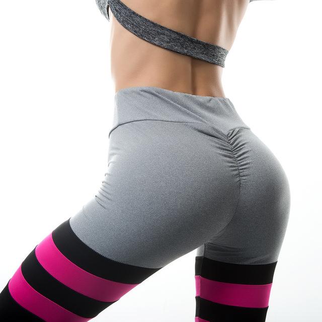 Dropship Casual Heat Sell Autumn Workout Black High Waist Elastic Fitness Slim Sport Print Pants Leggings 2018 Womens Clothing