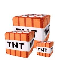 10 10 10 cm PC Game Minecraft Ten Characters TNT Creeper Plush Sponge Stuffed Cube Toy
