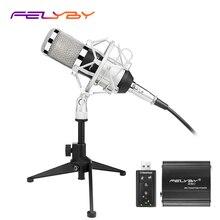 Nowa wersja bm 800 mikrofon kondensujący PC/KTV Pro wokalne Studio dźwiękowe KTV mikrofon do Karaoke + metalowy uchwyt Shock + metalowy statyw