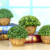Hot Sale Home Wedding Arrangement ZAKKA Artificial Plants Potted Garden Potted Grass Ball Fake Trees Pots Plants