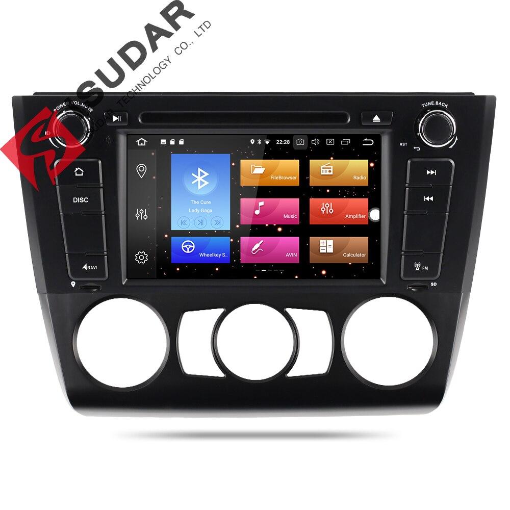 Isudar Voiture Multimédia Lecteur Voiture DAB Radio 1 din GPS Android 8.0 Pour BMW E81/E82/E88 1 série Canbus DSP OBD2 Microphone DVR