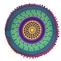 home decorative throw pillow Mandala Floor Pillows Round Bohemian Meditation Cover