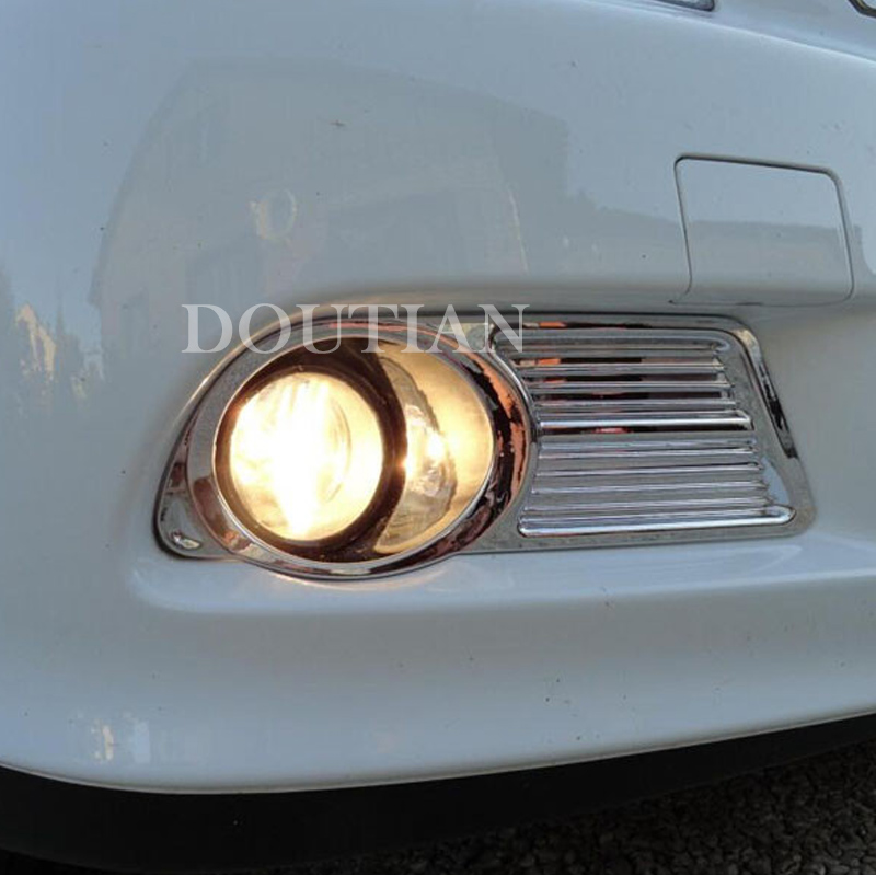 High quality ABS chrome front fog light lamp cover trim Almera G15 2012 2014 2015 2pcs
