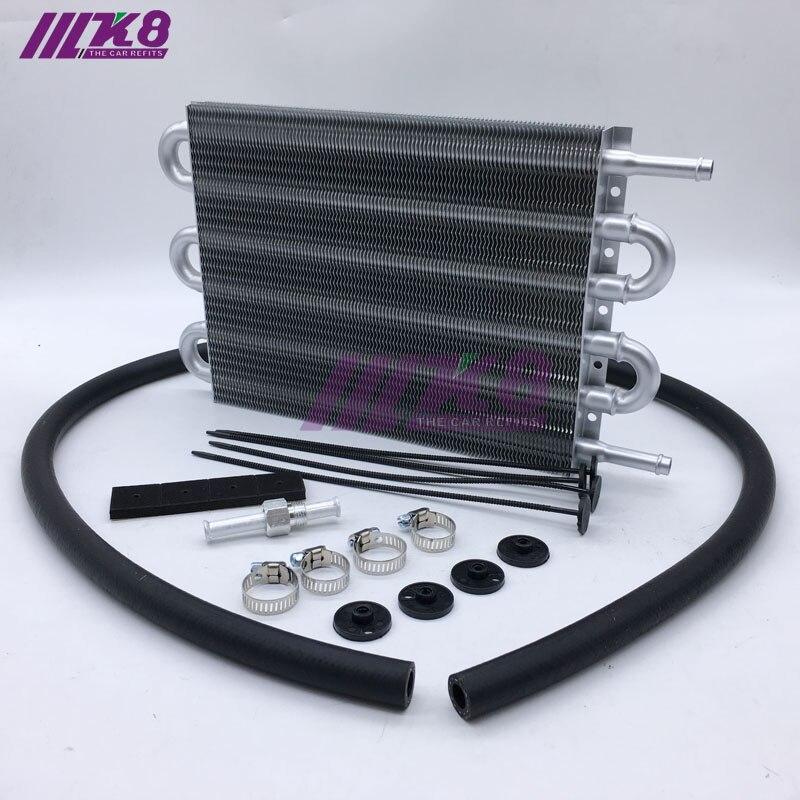 6 filas UNIVERSAL 304.8X190.5X19. 05 enfriador de aceite de transmisión remoto de aluminio/convertidor de radiador AUTO-MANUAL