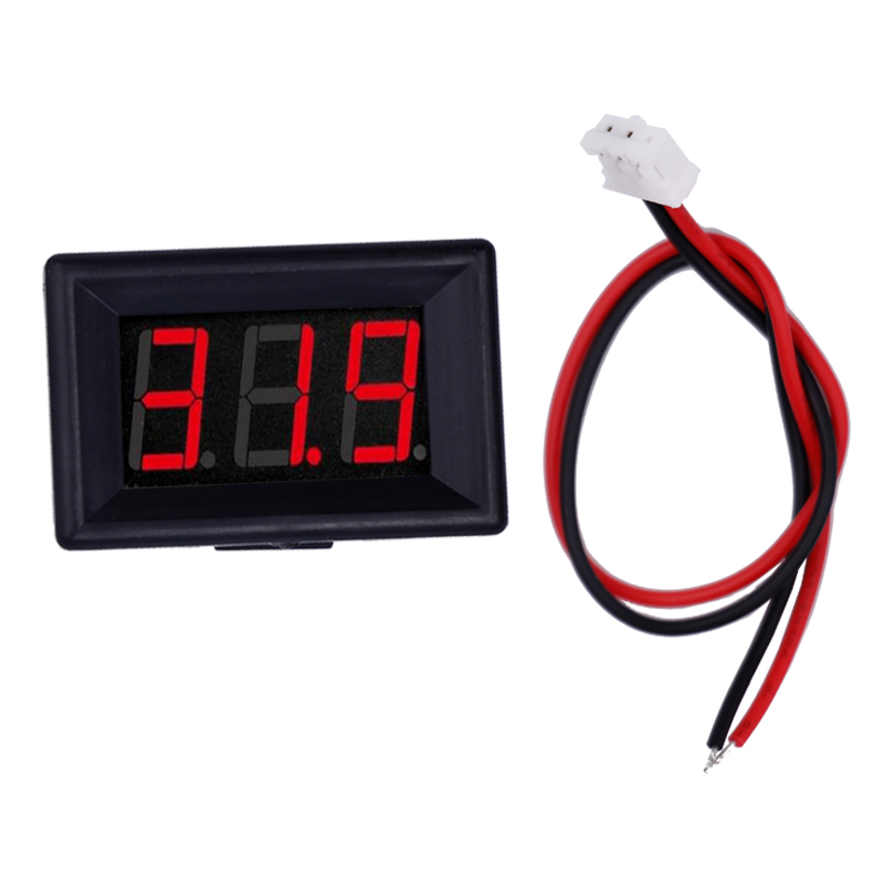 New Car LED Display 0.36 Inch 2 Wires Digital Voltmeter DC 2.4V-30V Panel Volt Meter Voltage Motorcycle Battery Tester 47%off