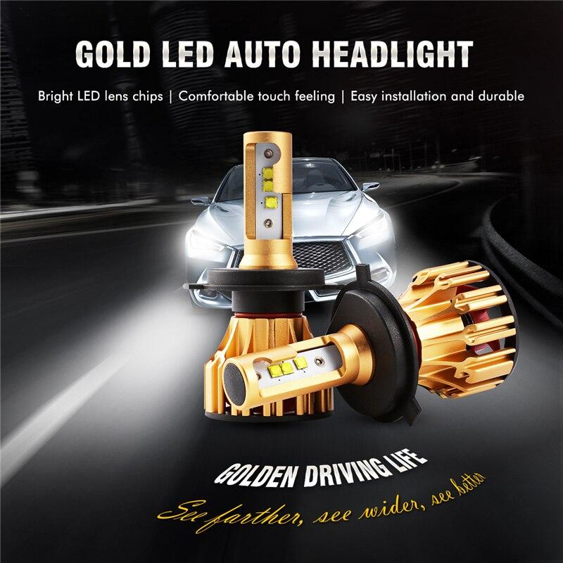 Auxmart LED Light H4 for Toyota Corolla Highlander 4runner Tercel Supra Avalon Solara Headlight 70W 7000lm LED Lamp Hi/Lo Beam