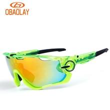 OBAOLAY Outdoor Fishing Sunglasses Polarized Bike Glasses 5 Lenses Mountain Bicycle UV400 Goggles MTB Sports Eyewear for Unisex
