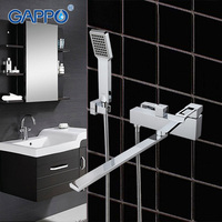 GAPPO Brass Bathtub Mixer High Quality Waterfall Faucet Mixer Bathroom Taps Wall Mounted Bath Mixer Sink