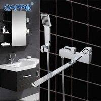 GAPPO waterfall faucet mixer Brass bathroom taps set bathtub high Quality wall mounted sink faucet bath tub faucet GA2240