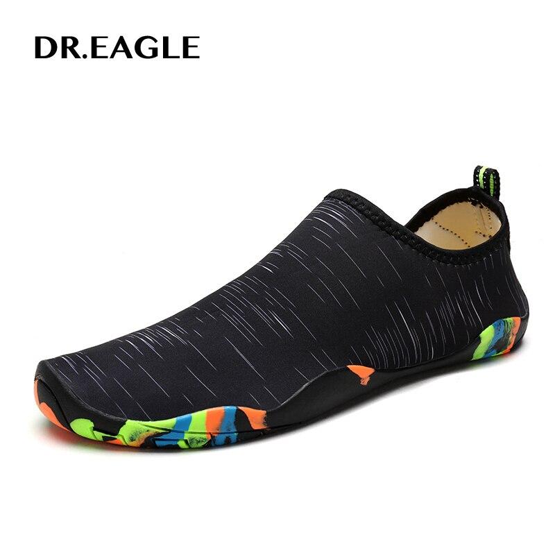 Dr. eagle All'aperto donne scarpe di acqua delle donne spiaggia di nuoto degli uomini di scarpe per scarpe pesca spiaggia immersione aqua trampolieri scarpe plus size