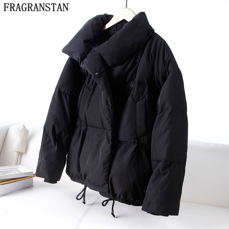 Women Winter New 90% White Duck Down Jacket Solid Color Casual Loose Waterproof Coat Female Plus Size Thick Warm Parkas LY565