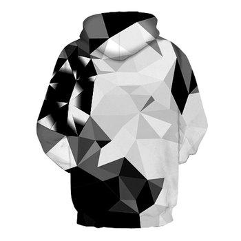 Headbook New Fashion Argyle Color Blocks Hoodies Men/Women 3d Sweatshirts Print White Black Diamonds Blocks Hooded Hoodies