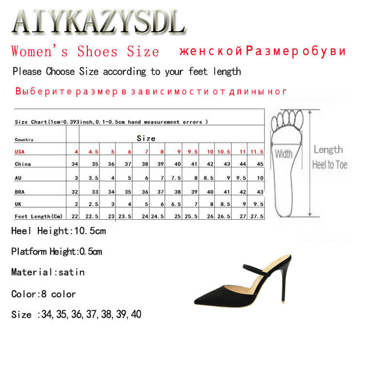 77b39255537a ... BIGTREE Women Basic Solid Pumps Pointy Toe High Heels Satin Silk  Slingback Sandals Cut Out Mule