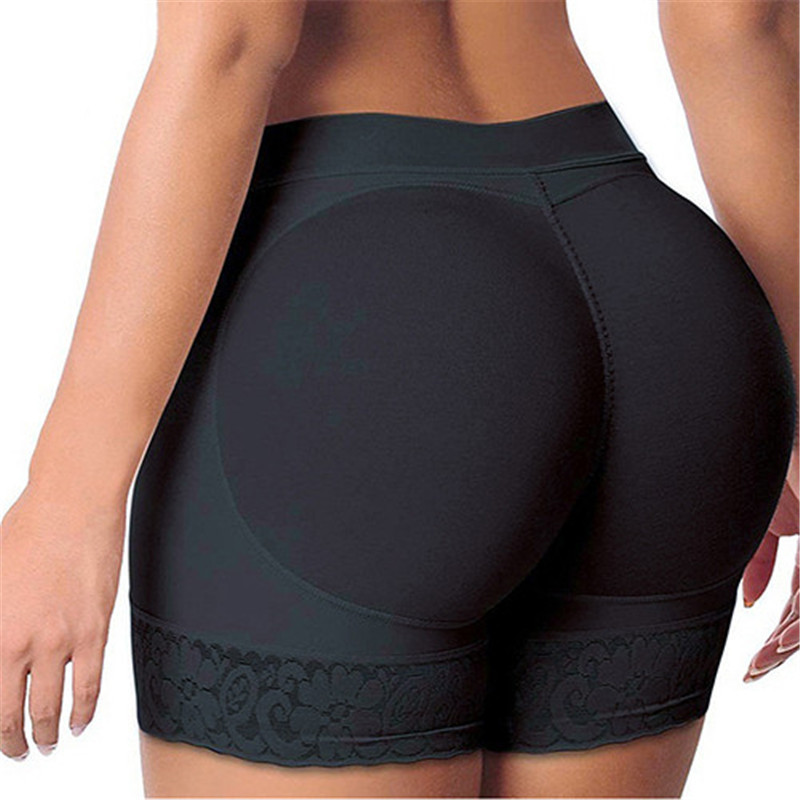 New Women's Lace Underwear Enhancer Body Shape Butt Hip Paded Seamless Underwear Pant Shape Wear