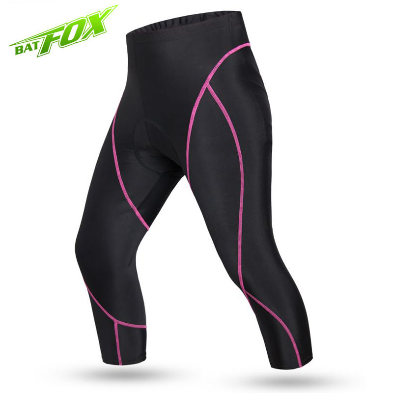 BATFOX Summer Womens Cycling Pants Tights Sportswear Sports Gym Fitness Running Yoga Leggings Tight Trousers Pants 3311