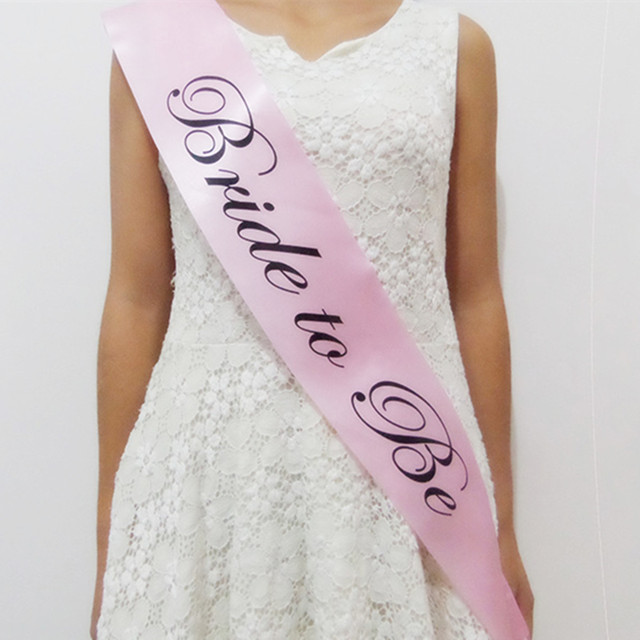 girls bride to be bachelorette party cloth sashes hen night out