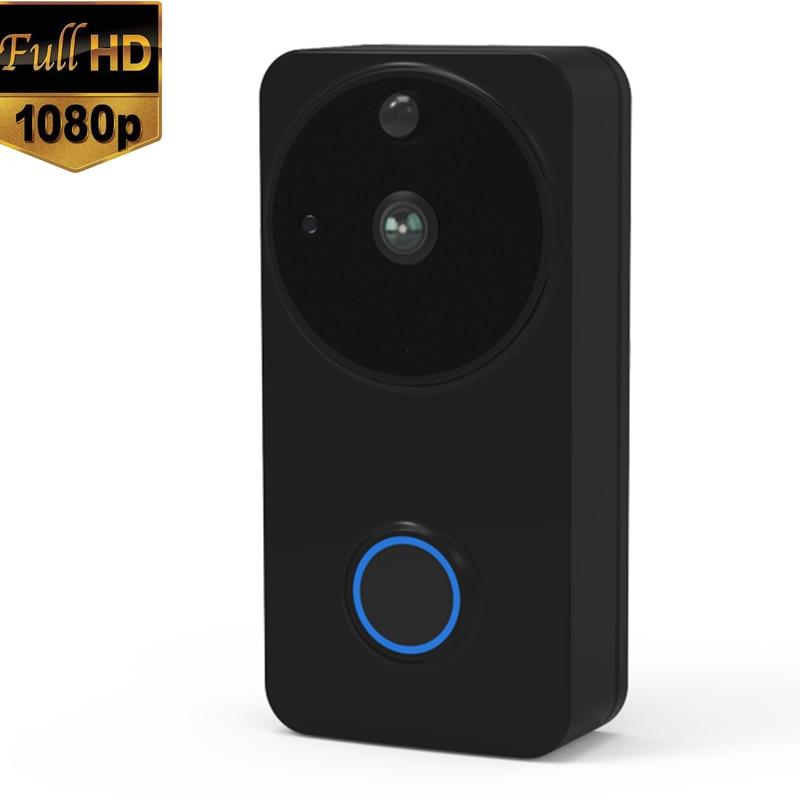 Ip54 impermeável ao ar livre interno 1080 p hd completo sem fio wi-fi inteligente vídeo campainha câmera wifi alimentado por bateria de 2 vias-áudio