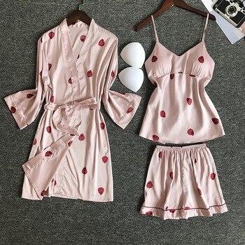 Nighties Women Pajamas Satin Sleepwear
