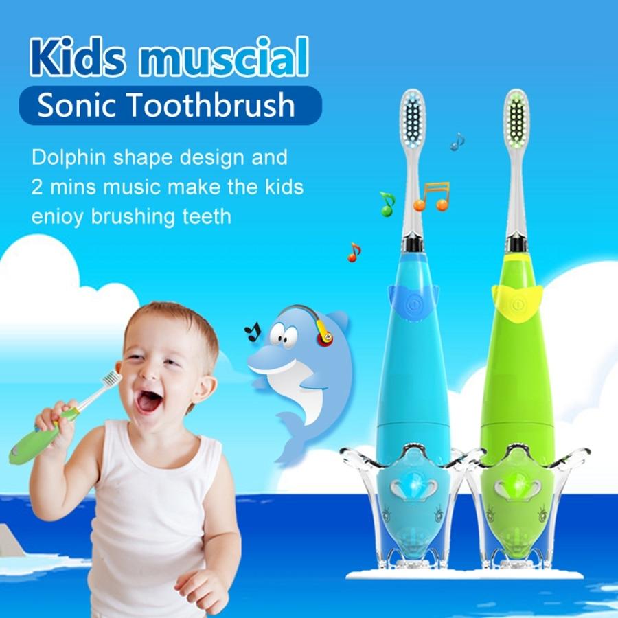 Детская электрическая зубная щетка с музыкальными песнями Мягкая