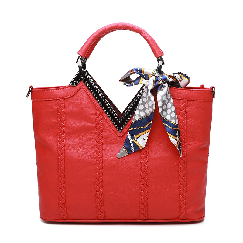 fashion women leather handbags lady large tote bag European and American wind soft pure color leather handbag women Mujer C615