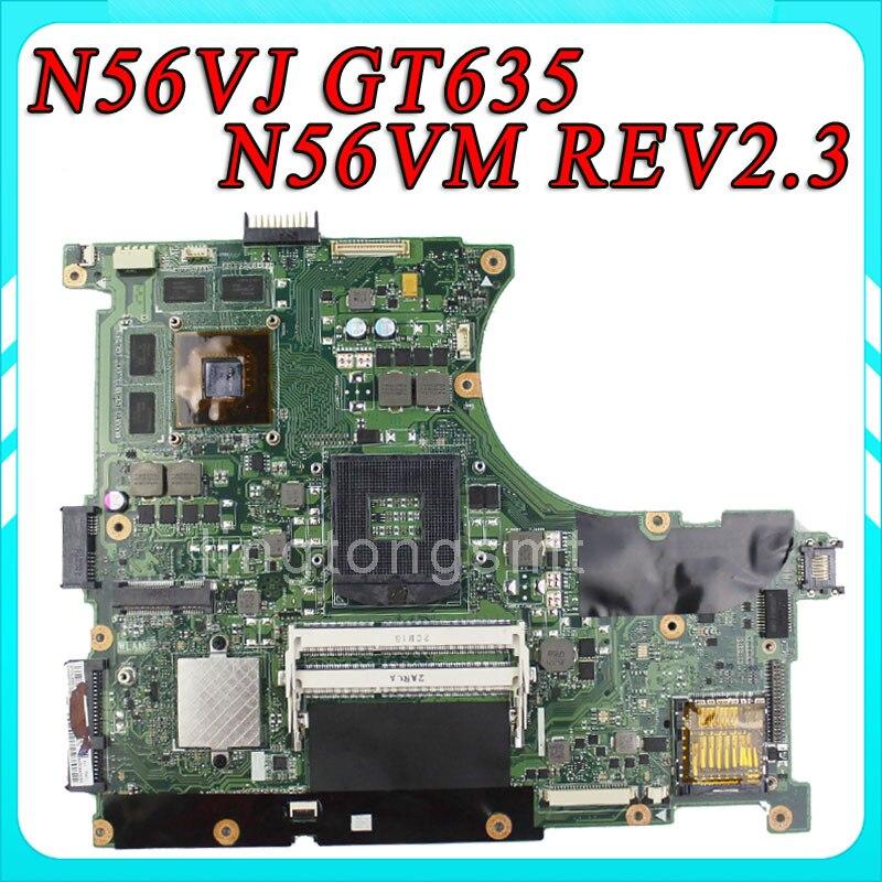N56VJ Motherboard N56VM REV2.3 mainboard GT635 2G DDR3 PGA 989 Fit N56VB N56VZ 100% Tested мясорубка ручная irit irh 691