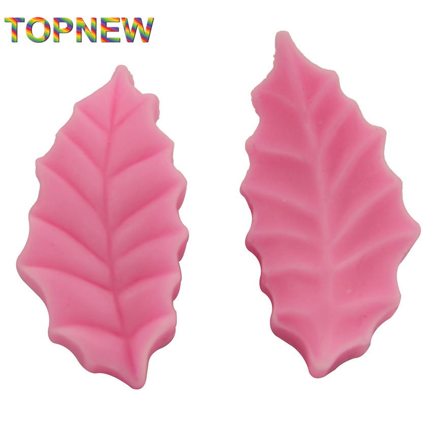 2pcs leaf shape silicone soap mold,Fondant Cake Decorating styling Tools, bakeware,cooking tools kitchen accessories 2299
