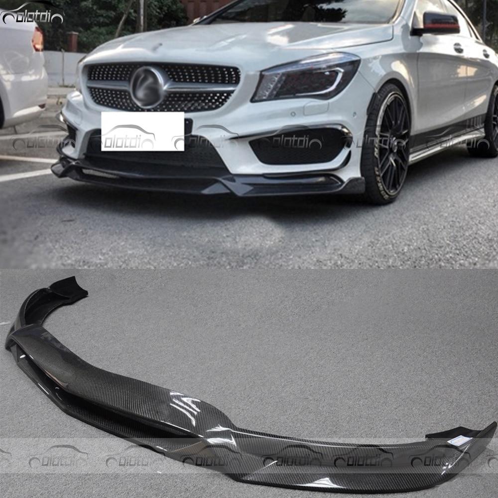R1 Стиль для Mercedes Benz W117 CLA AMG CLA45 стайлинга автомобилей углеродного волокна передняя губа