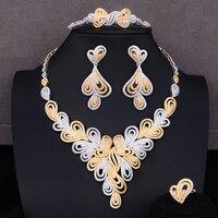 missvikki New Hotsale African 4pcs Bridal Jewelry Sets New Fashion Dubai Jewelry Set For Women Wedding Party Accessories Design
