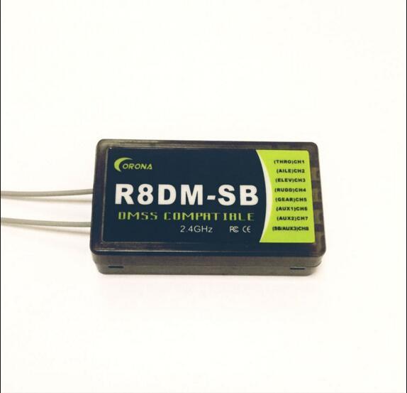 CORONA 2.4GHz DMSS Compatible Receiver R8DM-SB is designed to use with JR DMSS XG6 XG7 XG8 XG11 XG14 2.4GHz transmitters