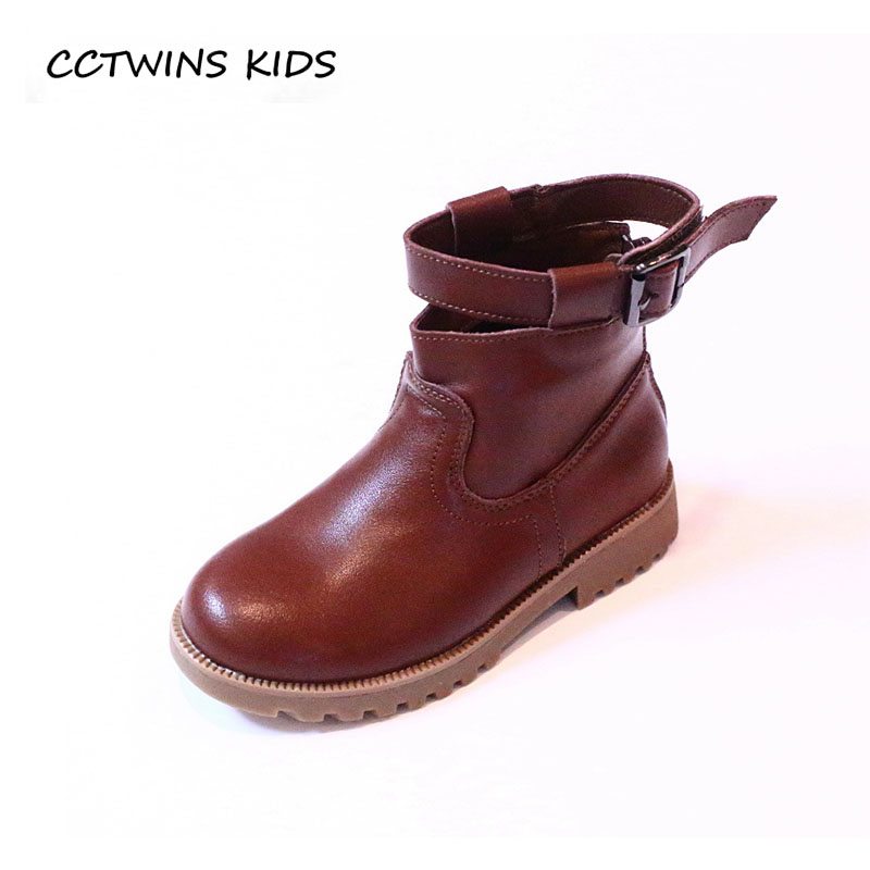 CCTWINS KIDS 2018 Winter Boy Black Warm Boot Children Fashion Ankle Boot Baby Girl Genuine Leather Shoe Toddler CF1553