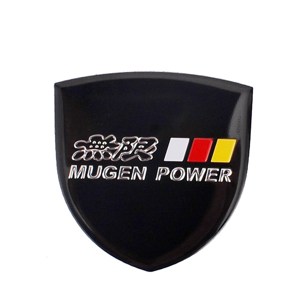 2x Si Red Metal Sticker Emblem Badge Decal civic fit types Sport Power mugen Car