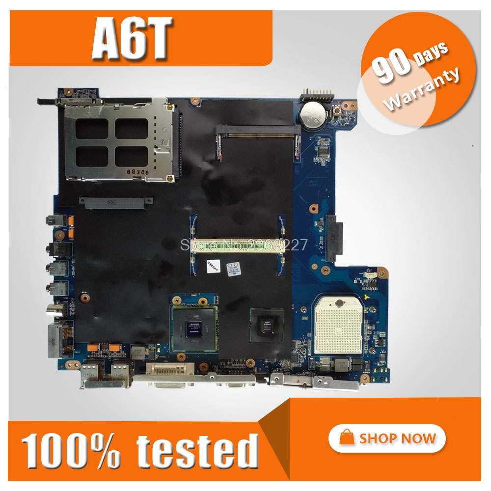 A6T Motherboard For ASUS ASUS A6TC A6U A6K A6KM A6V A6JC A6J Laptop motherboard A6T Mainboard