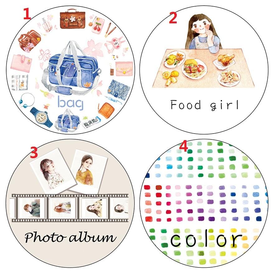 Travelling Bag Girls Colors Washi Paper Tape Scraping Paper Adhesive Masking Tape