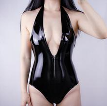 Lady's Leather Bodysuits Jumpsuits