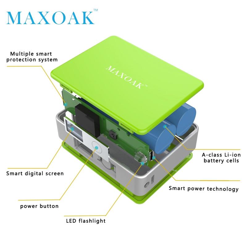 MAXOAK taşınabilir güç bankası Tek USB DC 5 V-2.1A 5200 mAh - Cep Telefonu Yedek Parça ve Aksesuarları - Fotoğraf 4