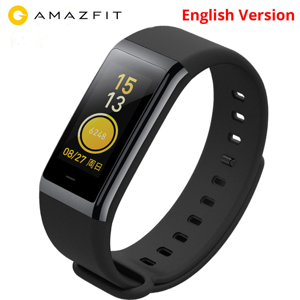 English Version Xiaomi Huami Amazfit Cor Midong Band Smart Wristband 1 23 inch Screen Heart Rate