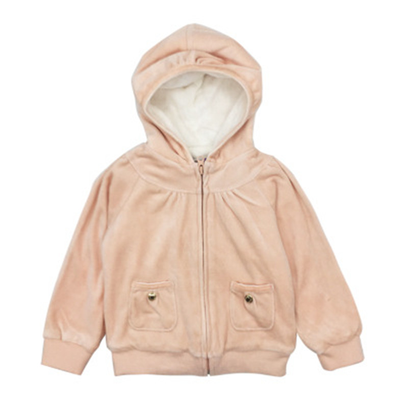 Baby Outerwear Girl Winter Warm Hooded Coat 2018 Baby Girls Jackets 100% Cotton Line Solid Zipper V-Neck Baby Girl Clothes original walkera devo f12e fpv 12ch rc transimitter 5 8g 32ch telemetry with lcd screen for walkera tali h500 muticopter drone