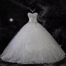 QQ מאהב 2020 חדש כדור שמלת תחרה חתונה שמלות מבריק ואגלי חתונת שמלות הכלה שמלה