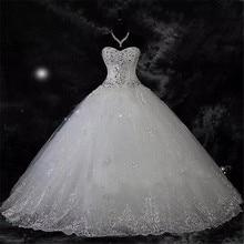 QQ Lover 2020 nowa kula suknia koronkowe suknie ślubne błyszczące frezowanie suknie ślubne suknia dla panny młodej