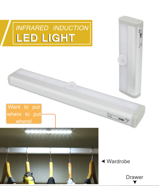 Led Cabinet Light Led Lamp For Kitchen High Quality PIR Motion Sensor Aluminum Wall Lamp Corridor Closet Indoor Lighting