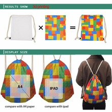 Cute Animal Head Owl Puzzle Backpack Women Small Drawstring Bag Fabric Nylon Sackpack Bag for Fitness String Shoulder Bag