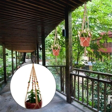 Vintage Garden Rope Basket Macrame Plant Hanger Flower Pot Hanging Holder Tool 100cm Nov