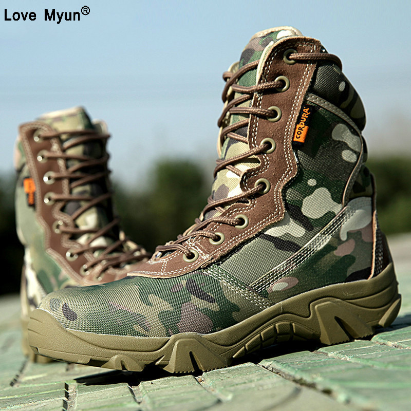 Spring Men Military Tactical Boots High Top Canvas Round Toe Zipper Lace Up Combat Army Boot Mens Ankle Casual Desert Shoes89sd