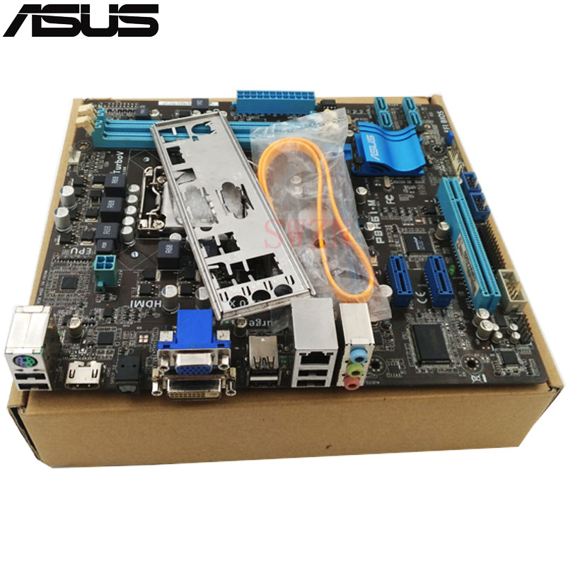 original Used Desktop motherboard For ASUS P8H61-M H61 Support LGA1155 I7 I5 I3 Maximum DDR3 16GB 4*SATA II Mini-ITX Main Board asus p8h61 plus desktop motherboard h61 socket lga 1155 i3 i5 i7 ddr3 16g uatx uefi bios original used mainboard on sale